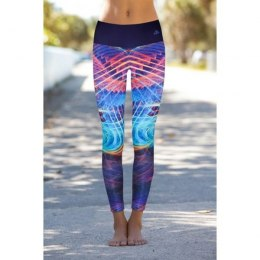 LEGINSY DAMSKIE BRIGHT BOHO ELECTRIC LEGGINS