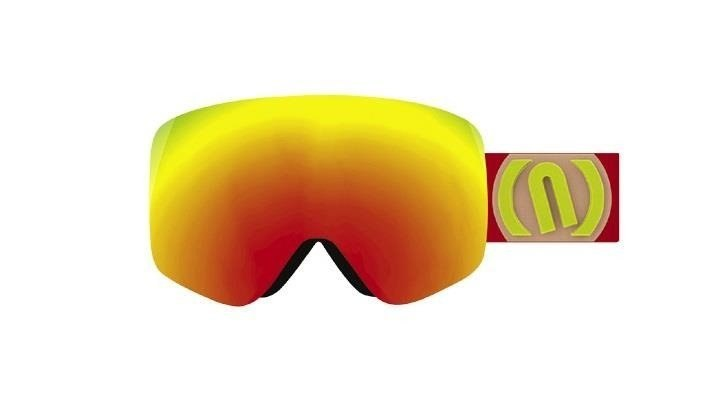 GOGLE MAD RED FLUO SZYBA RED CAT 3