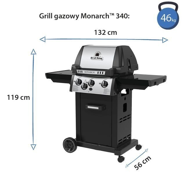 GRILL GAZOWY BROIL KING MONARCH 390 834283PL