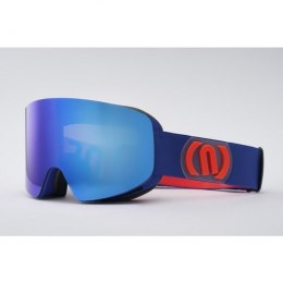 GOGLE NEON LIGHT BLUE ROYAL/ORANGE SZYBA M2 RED CAT 3