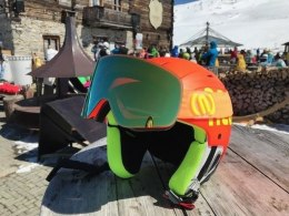 GOGLE NEON MAD ORANGE FLUO/BLACK SZYBA M3 GOLD CAT 3