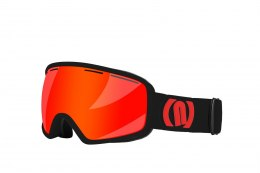 GOGLE NEON VENUS BLACK/ORANGE FLUO SZYBA RED CAT3